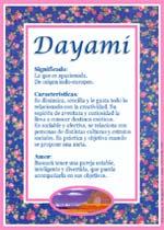 Origen y significado de Dayami