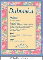 Origen y significado de Dubraska