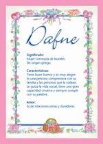 Nombre Dafne