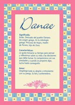 Origen y significado de Danae