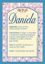 Nombre Daniela