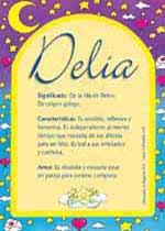 Origen y significado de Delia