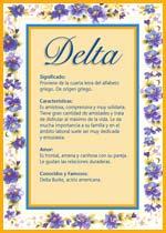 Origen y significado de Delta