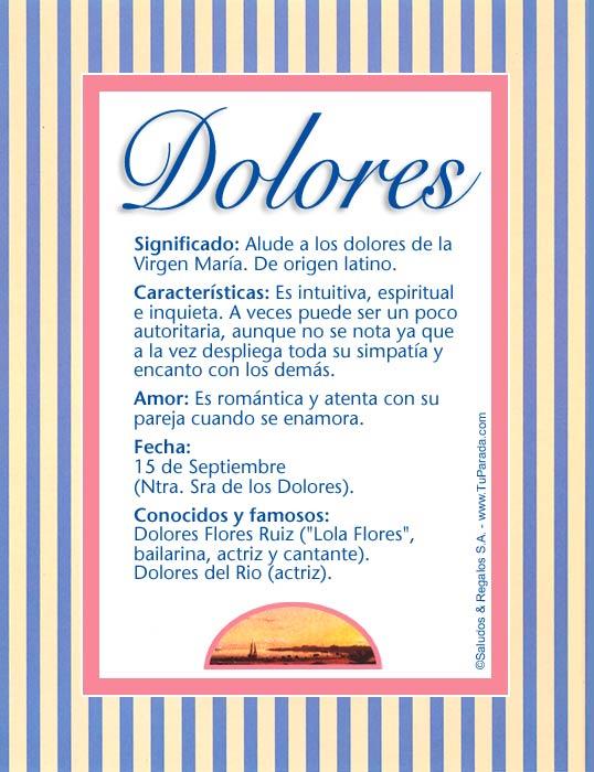 Dolores, imagen de Dolores