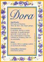 Origen y significado de Dora