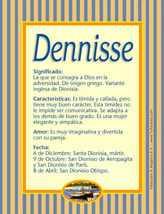 Dennisse, imagen de Dennisse