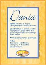 Nombre Dania
