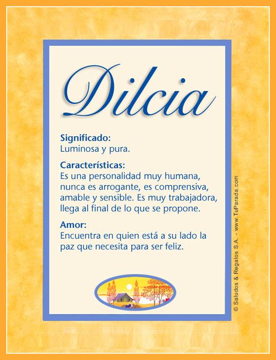 Dilcia, imagen de Dilcia