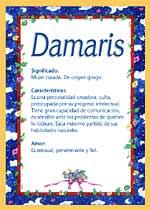 Origen y significado de Damaris