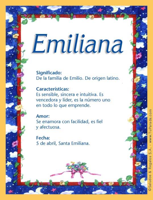 Emiliana, imagen de Emiliana