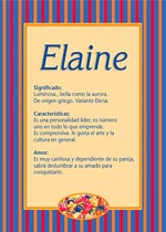 Nombre Elaine