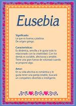 Nombre Eusebia