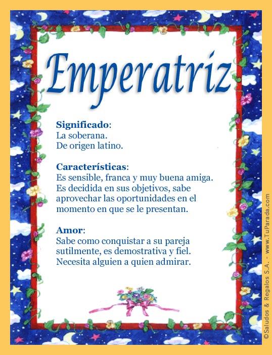 Emperatriz, imagen de Emperatriz