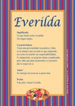 Nombre Everilda