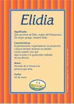 Nombre Elidia