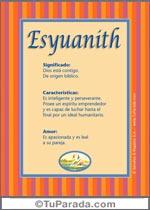 Nombre Esyuanith