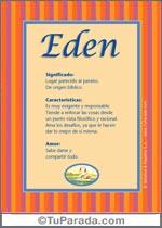 Nombre Eden