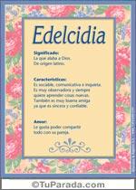 Nombre Edelcidia