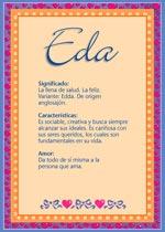 Nombre Eda