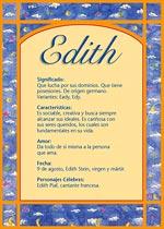 Nombre Edith