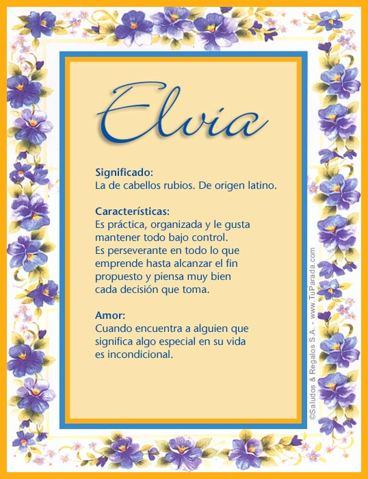 Elvia, imagen de Elvia