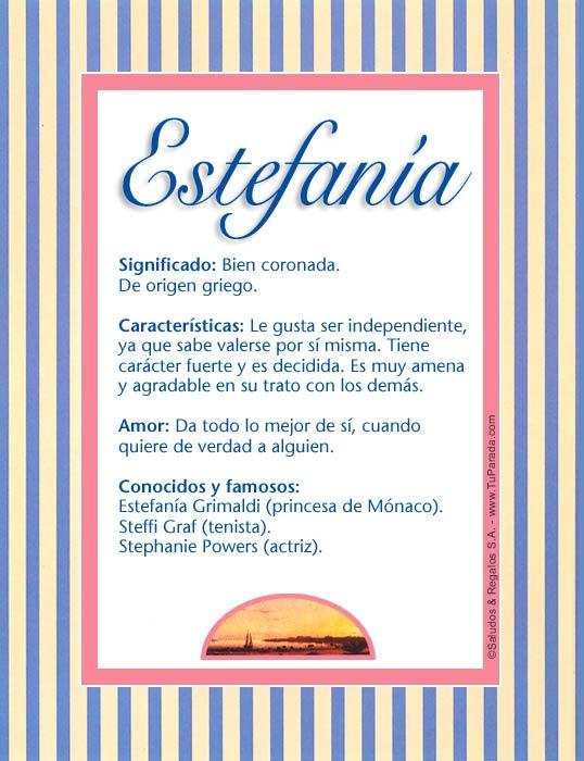 Estefanía, imagen de Estefanía