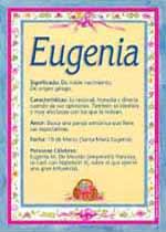 Nombre Eugenia