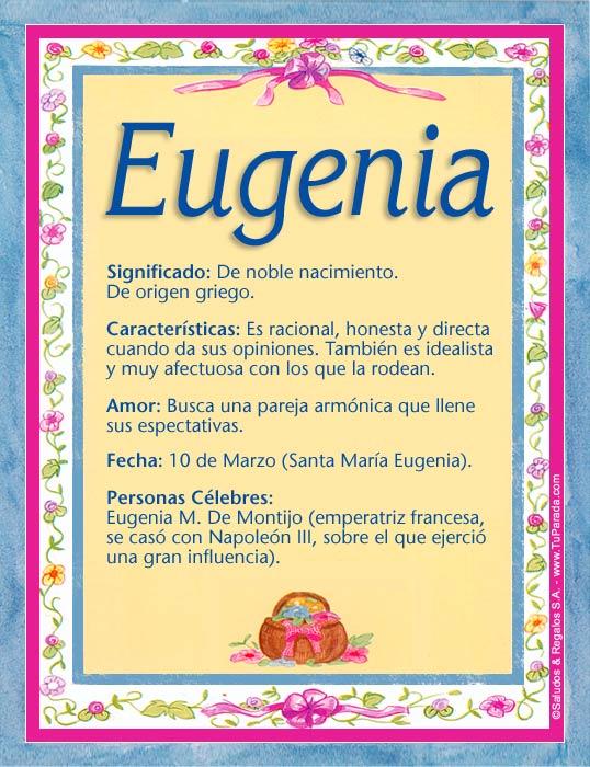 Eugenia, imagen de Eugenia