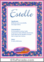 Nombre Estelle