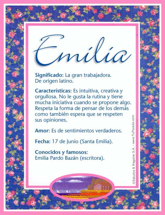 Emilia, imagen de Emilia