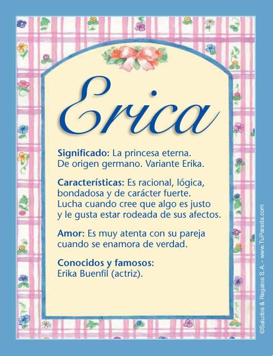 Erica, imagen de Erica