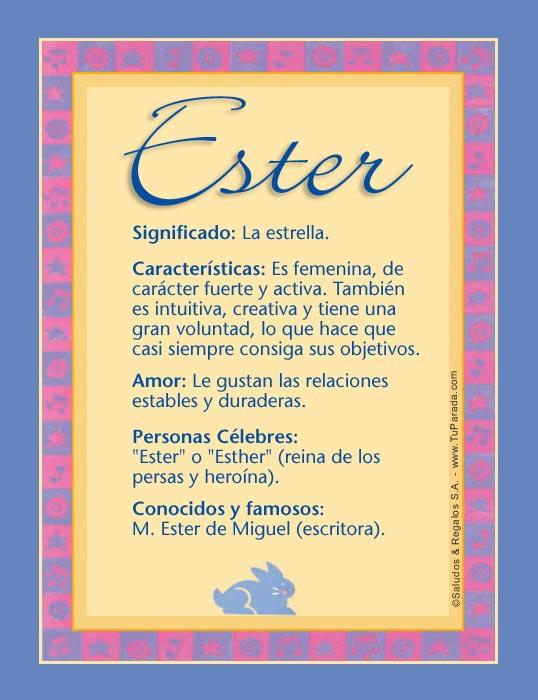 Ester, imagen de Ester
