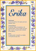 Origen y significado de Erika
