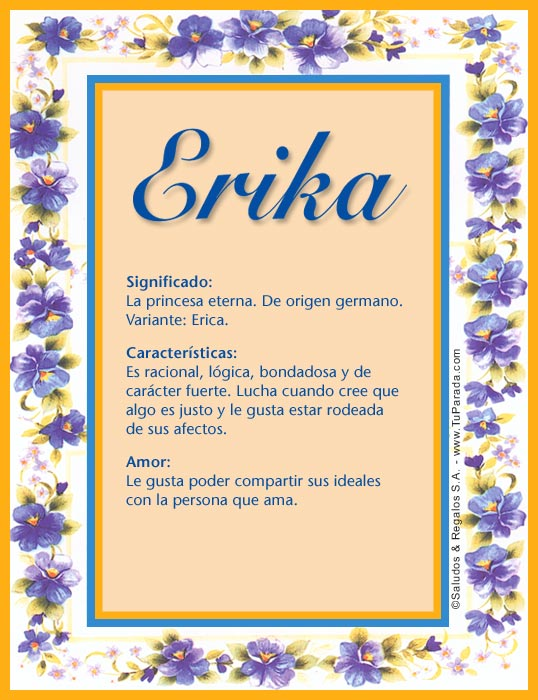 Erika, imagen de Erika