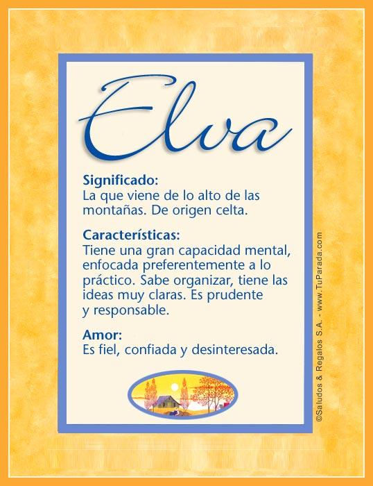 Elva, imagen de Elva