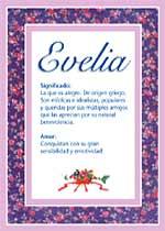 Nombre Evelia