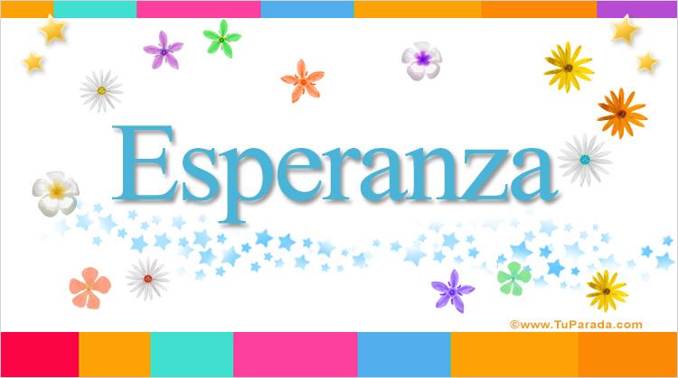 Esperanza, imagen de Esperanza