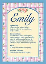 Origen y significado de Emily