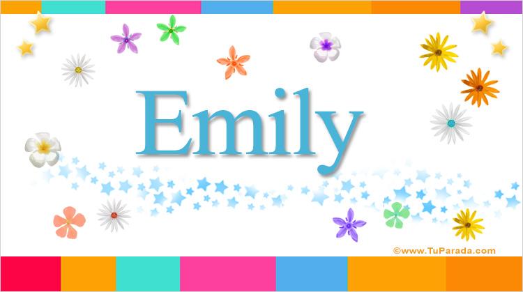Emily - Nombres populares de mujer, enviar tarjeta