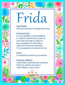 Nombre Frida