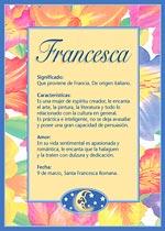 Nombre Francesca