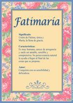 Nombre Fatimaría