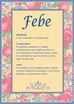 Nombre Febe