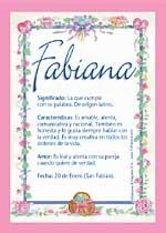 Nombre Fabiana