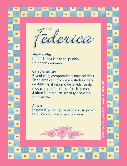 Federica, imagen de Federica