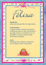 Nombre Felisa