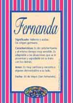 Origen y significado de Fernanda