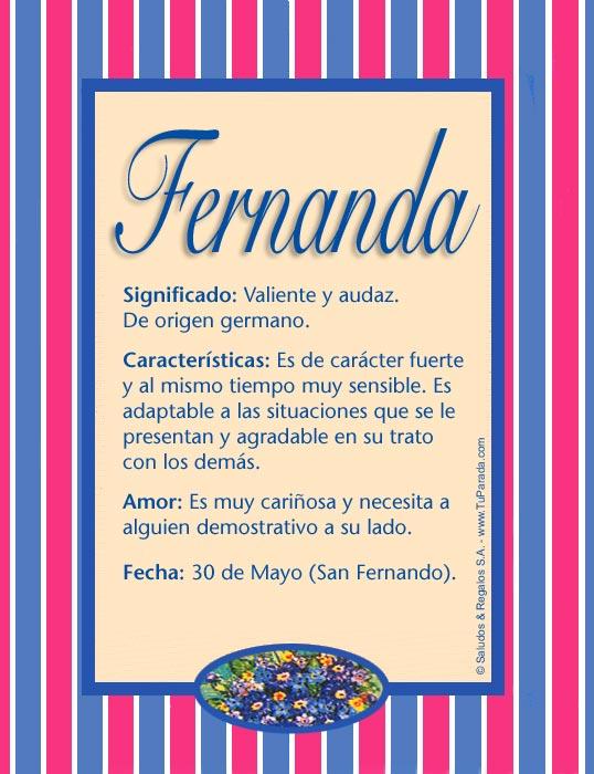 Fernanda, imagen de Fernanda