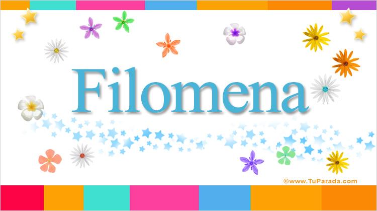 Filomena, imagen de Filomena