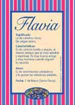Nombre Flavia